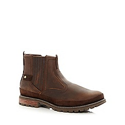 Caterpillar - Dark brown leather boots