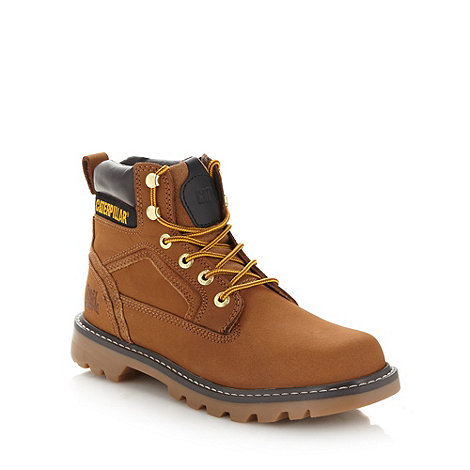 Caterpillar - Brown leather worker boots