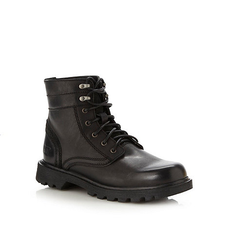 Caterpillar - Black leather utility boots
