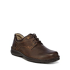 Hush Puppies - Brown leather 'Geography' lace up shoes