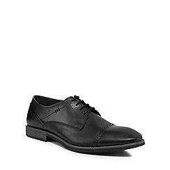 Hush Puppies - Black leather 'Craig Luganda' Oxford shoes
