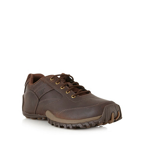 Caterpillar - Dark brown leather lace up shoes