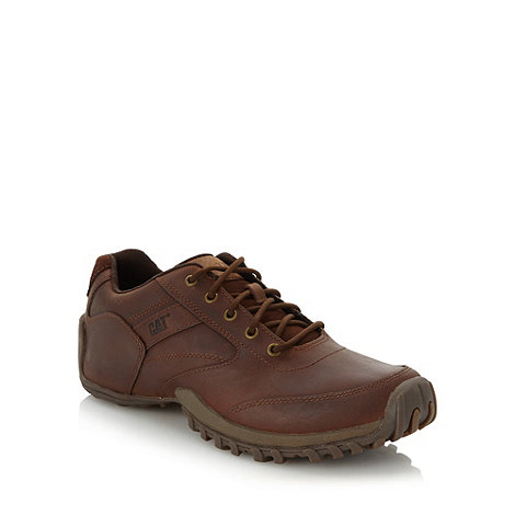 Caterpillar - Brown leather stitch shoes