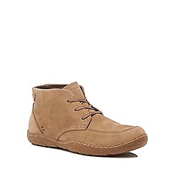 Hush Puppies - Taupe leather 'Finnian Sway' chukka boots