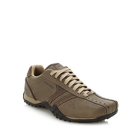 Skechers - Brown leather +Urbantrack Forward+ trainers