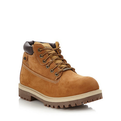 Skechers - Tan +Sergants+ leather worker boots