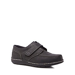 Hush Puppies - Black leather 'Vince Victory' trainers