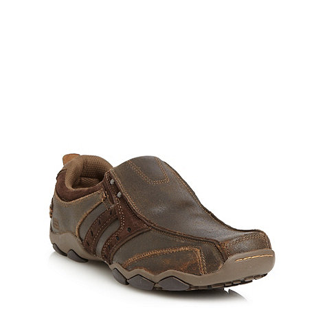Skechers - Chocolate brown 'Diameter Heisman' trainers