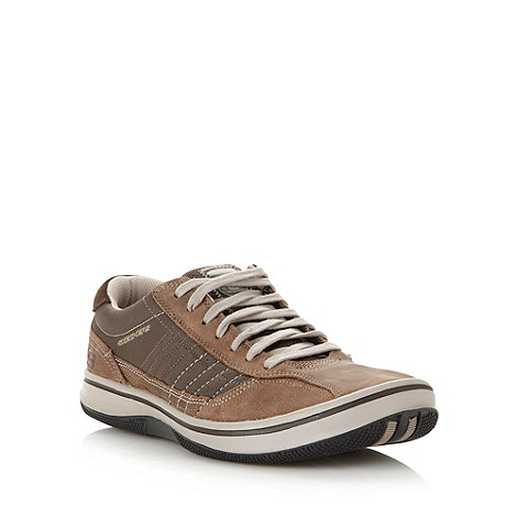 Skechers - Chocolate +Piers Breakers Cove+ leather trainers