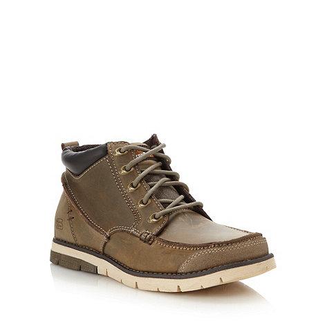 Skechers - Olive +Kane Maken+ leather apron boots