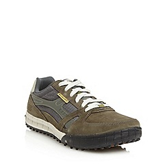 Skechers - Olive 'Floater' suede trainers