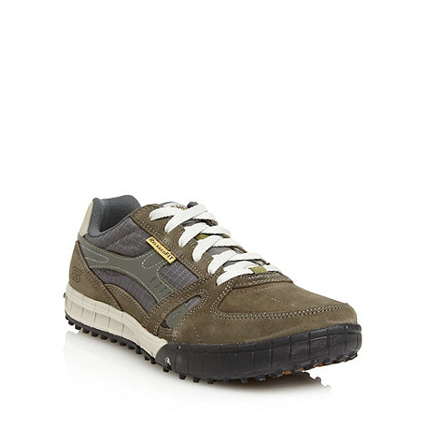 Skechers - Olive +Floater+ suede trainers