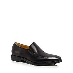 Steptronic - Black leather 'Enzo' slip on shoes