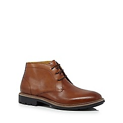 Steptronic - Tan leather 'Leeds' chukka boots