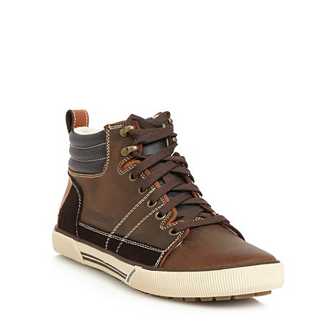 Skechers - Brown +Talon+ high top trainers