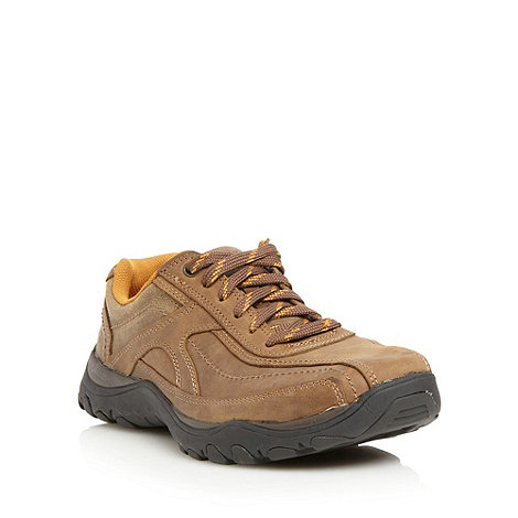 Skechers - Brown +Artifact+ leather trainers