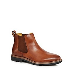 Steptronic - Tan leather 'Lord' Chelsea boots