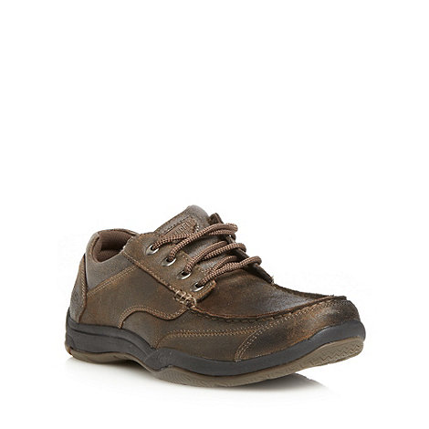 Skechers - Chocolate +Valko Niguel+ leather shoes