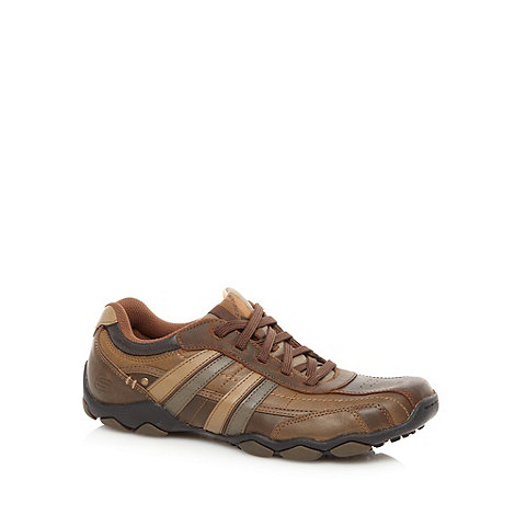 Skechers - Wide fit brown +Diameter Reggor+ padded trainers