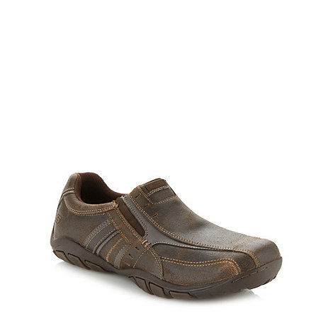 Skechers - Brown 'Dixon Lamar' suede leather trainers
