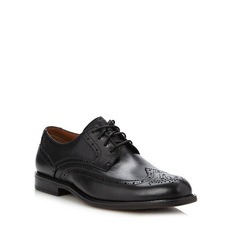 Clarks - Wide fit black +Dorset Limit+ brogues