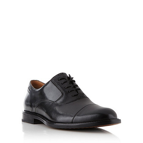 Clarks - Wide fit black leather +Dorset Boss+ lace up shoes