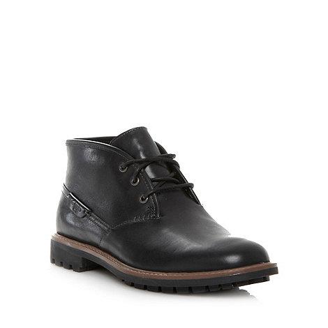 Clarks - Wide fit black leather +Montacute Duke+ boots