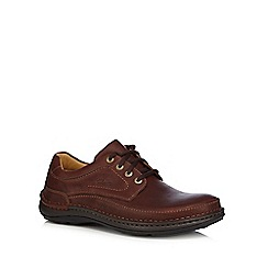 Clarks - Brown leather 'Nature Three' lace up shoes