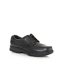Clarks - Black leather 'Star Stride' shoes