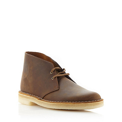 Clarks - Tan leather +Desert+ boots
