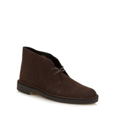 Clarks Originals brown leather desert boots - . -