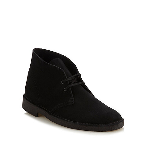 Clarks - Black suede leather +Desert+ boots