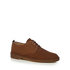 Clarks - Big and tall tan 'Desert' suede lace up shoes