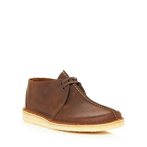 Clarks - Dark brown leather +Desert Trek+ boots