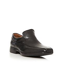Clarks - Wide fit black 'Francis Flight' slip on shoes