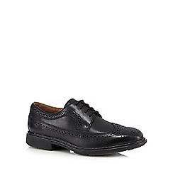 Clarks - Black 'Limit' leather lace up brogues