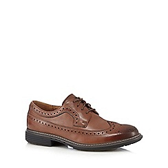 Clarks - Big and tall tan leather 'Un Limit' hole brogues