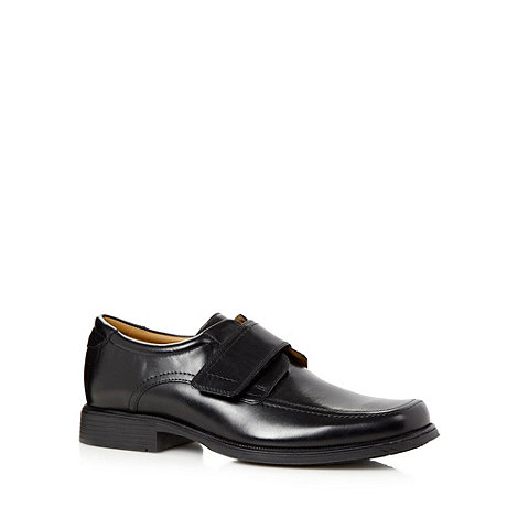 Clarks - Black +Hank Roll+ leather rip tape shoes