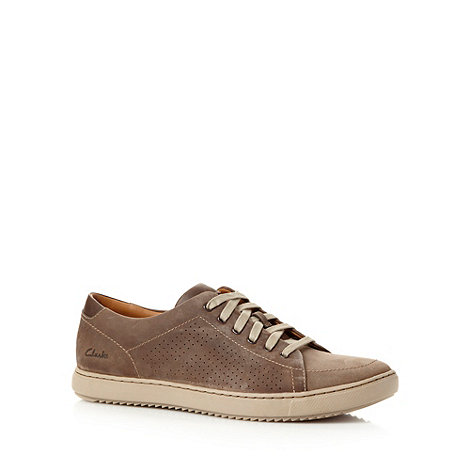 Clarks - Brown +Niven Life 5+ suede leather trainers