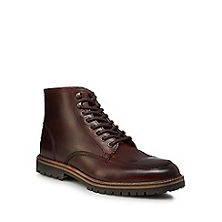 RJR.John Rocha - Dark brown leather 'Annamite' lace up boots