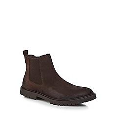 RJR.John Rocha - Dark brown leather 'Taurus' Chelsea boots