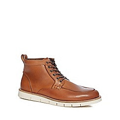 RJR.John Rocha - Tan leather 'Brecon Apron' chukka boots