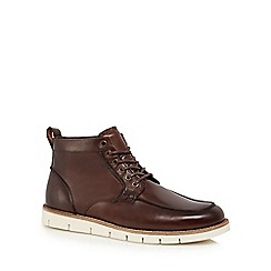 RJR.John Rocha - Brown leather 'Brecon Apron' Chukka boots