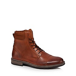 J by Jasper Conran - Brown leather 'Curium' lace up boots