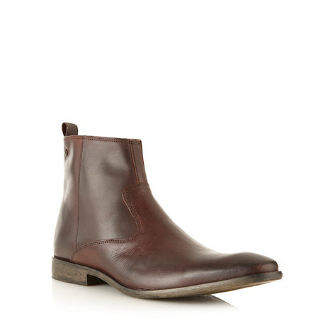 Base London - Dark brown leather boots