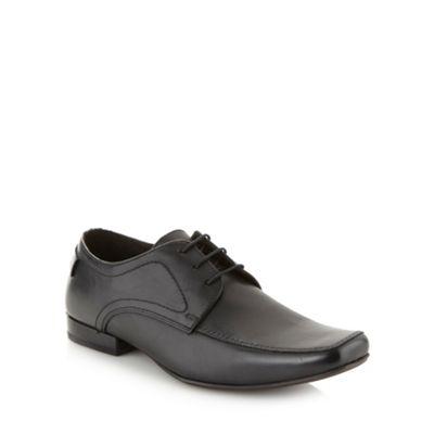 Base London Black leather apron front shoes - . -