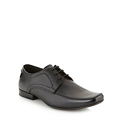 Base London - Black leather apron front shoes