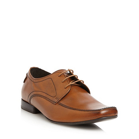 Base London - Tan leather apron front shoes