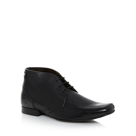 Base London - Black leather apron ankle boots