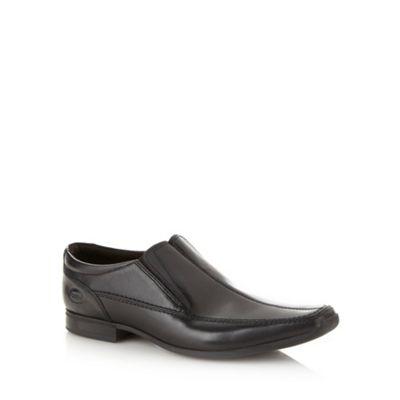 Base London Black leather split apron front shoes - . -